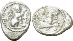 SELEUKID KINGDOM. Antiochos III 'the Great' (222-187 BC). Tetradrachm. Uncertain mint in Mesopotamia. Obv: Diademed head right. Rev: ΒΑΣΙΛΕΩΣ / ΑΝΤΙΟΧΟΥ. Elephant standing right. Control: EΣ to right. SC 1135.1; HGC 9, 451c. Very rare Condition: Very fine. Weight: 17.0 g. Diameter: 29 mm.