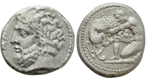 PHRYGIA. Laodikeia. Cistophor (Circa 133//88-67 BC). Obv: Cista mystica with serpent; all within ivy wreath. Rev: Bowcase between two serpents. Controls: ΛΑΟ to left; to right, panther right above turreted head of Tyche right. Kleiner & Noe series 4; SNG von Aulock 8404. Rare Condition: Extremely fine. Weight: 12.71 g. Diameter: 30 mm.