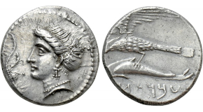 PTOLEMAIC KINGS OF EGYPT. Ptolemy I Soter (323-305 BC). Tetradrachm. Alexandreia. Obv: Diademed head of Alexander right, wearing elephant skin headdress. Rev: ΑΛΕΞΑΝΔΡΟΥ. Athena advancing right, holding shield and preparing to hurl spear; to right, EY and eagle standing right on thunderbolt. Svoronos 44; SNG Copenhagen -. Condition: Very fine, a few marks on the reverse. Weight: 17.0 g. Diameter: 27 mm.