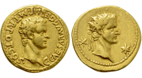 TIBERIUS III (APSIMAR) (698-705). GOLD Solidus. Constantinople. Obv: D TIЬЄRIЧS PЄ AV. Crowned and cuirassed bust facing, holding spear and shield decorated with horseman motif. Rev: VICTORIA AVςЧ A / CONOB. Cross potent set upon three steps. Sear 1360. Condition: Mint State. Weight: 4.44 g. Diameter: 19 mm.