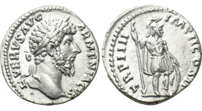 SEPTIMIUS SEVERUS with CARACALLA and GETA (193-211). Denarius. Rome. Obv: SEVERVS PIVS AVG. Laureate head right. Rev: AETERNIT IMPERI. Draped and cuirassed busts of Caracalla, laureate, and Geta, bareheaded, facing one another. RIC 252. Rare Condition: Good very fine, typical flan cracks for issue. Weight: 2.21 g. Diameter: 18 mm.