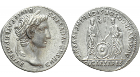 DIVA PAULINA (Died before 236). Denarius. Rome. Struck under Maximinus Thrax. Obv: DIVA PAVLINA. Veiled and draped bust right. Rev: CONSECRATIO. Peacock standing facing, head left. RIC 1 (Maximinus Thrax). Condition: Good very fine, a few light cleaning marks. Weight: 2.04 g. Diameter: 21 mm.