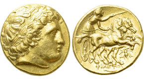STHRACE. Abdera. Stater (Circa 386-375 BC). Polykrates, magistrate. Obv: ΑΒΔΗΡΙ (retrograde). Griffin crouching left, raising orepaw. Rev: ΠΟΛΥΚΡΑΤΗΣ (P retrograde).Artemis standing right, holding bow and arrow; in foreground, stag standing right; all within incuse square. Cf. Jameson 1036a. Rare. Condition: Very fine. Weight: 10.60 g. Diameter: 23 mm.