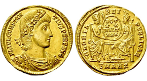 BASILISCUS (475-476). GOLD Solidus. Constantinople. Obv: D N ЬASILISCUS P P AVG.