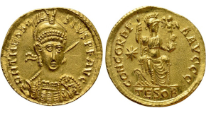 HADRIAN (117-138). GOLD Aureus. Rome. Obv: IMP CAES TRAIAN HADRIANO AVG DIVI TRA PARTH F. Laureate, draped and cuirassed bust of Hadrian right, wearing balteus. Rev: DIVI NER NEP P M TR P COS / ORIENS. Radiate and draped bust of Sol right. RIC 16; Calicó 1293. Condition: Good very fine. Weight: 7.20 g. Diameter: 18 mm.