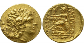 ALEXANDRINE EMPIRE. Time of Stamenes to Seleukos (Satraps of Babylon, circa 328-311 BC). GOLD Double Daric. Babylon. Obv: Persian king in kneeling-running stance right, holding bow and spear; monogram to left, M to right.